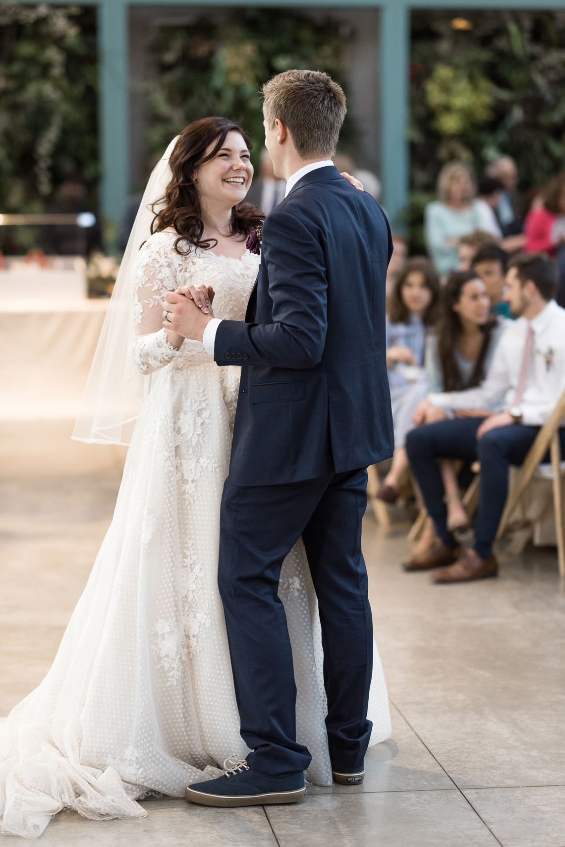 bride and grooms first dance | red butte gardens wedding