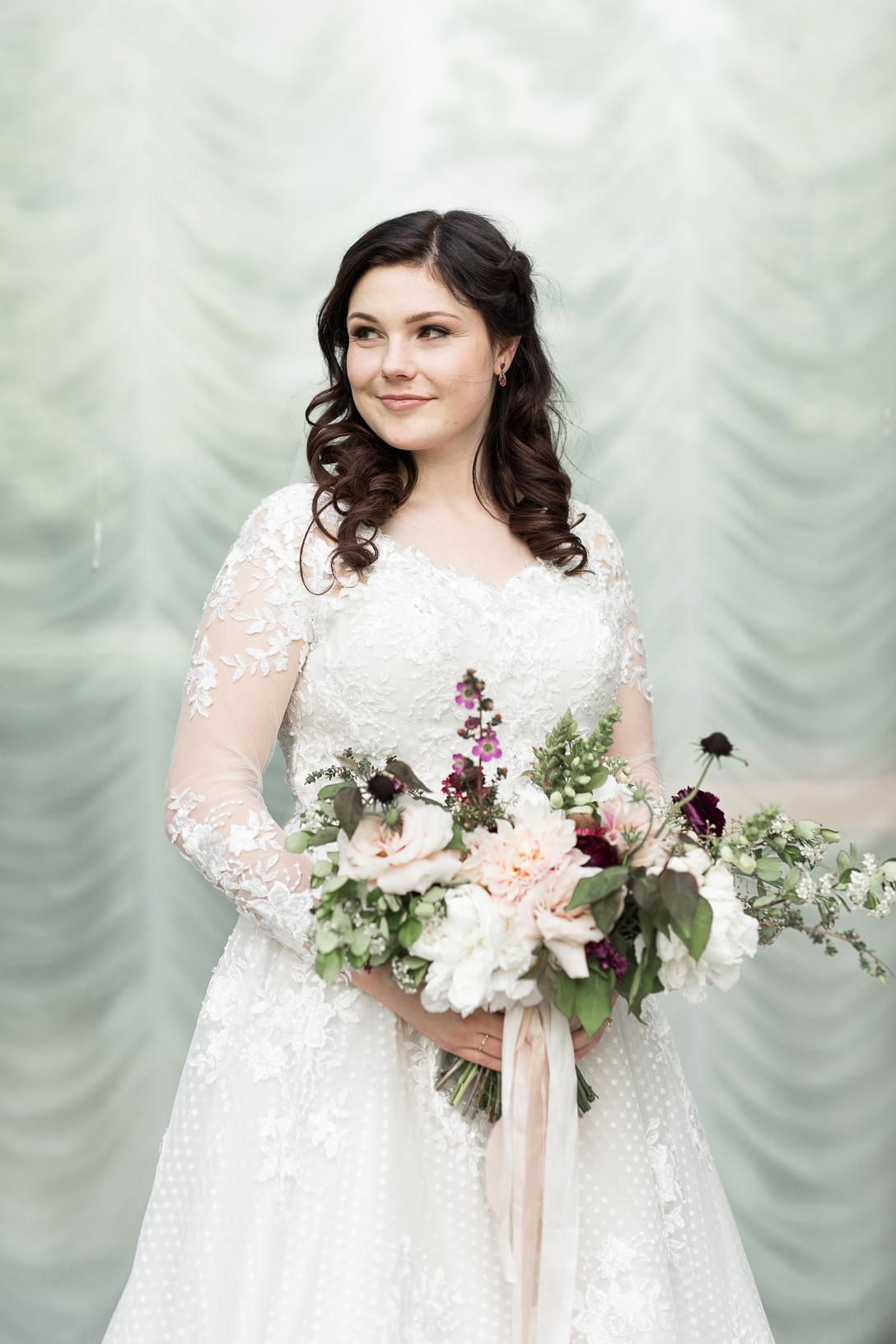 bridal portrait at salt lake city temple wedding