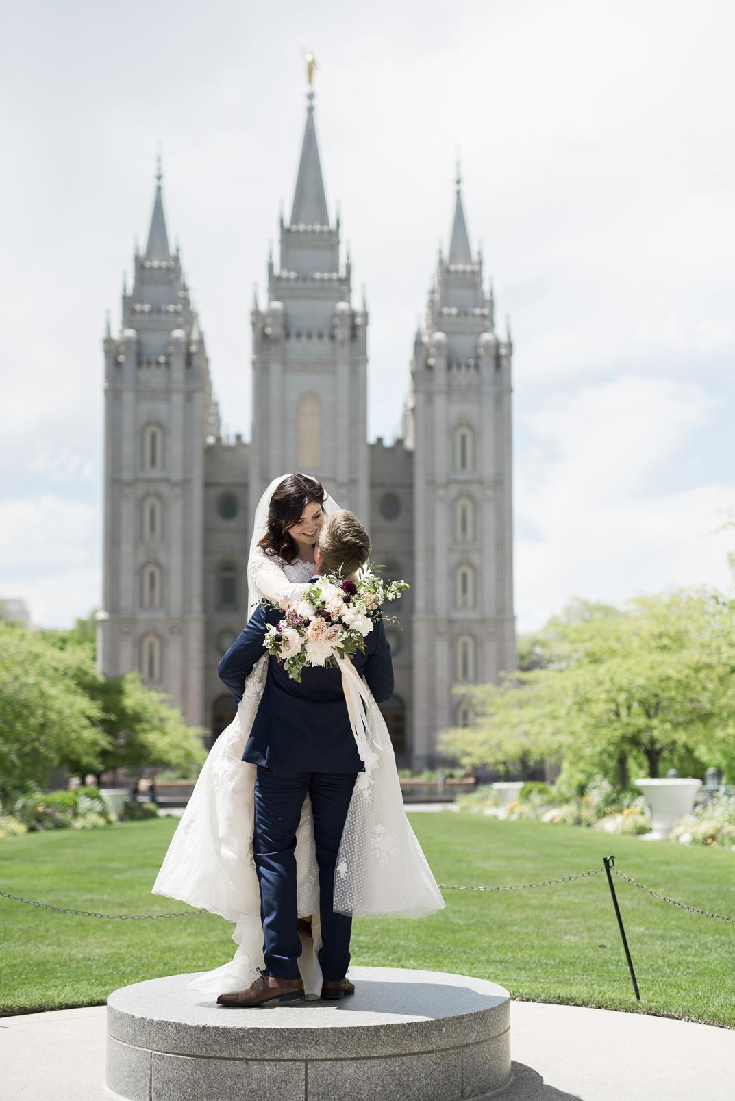 wedding at salt lake city lds temple