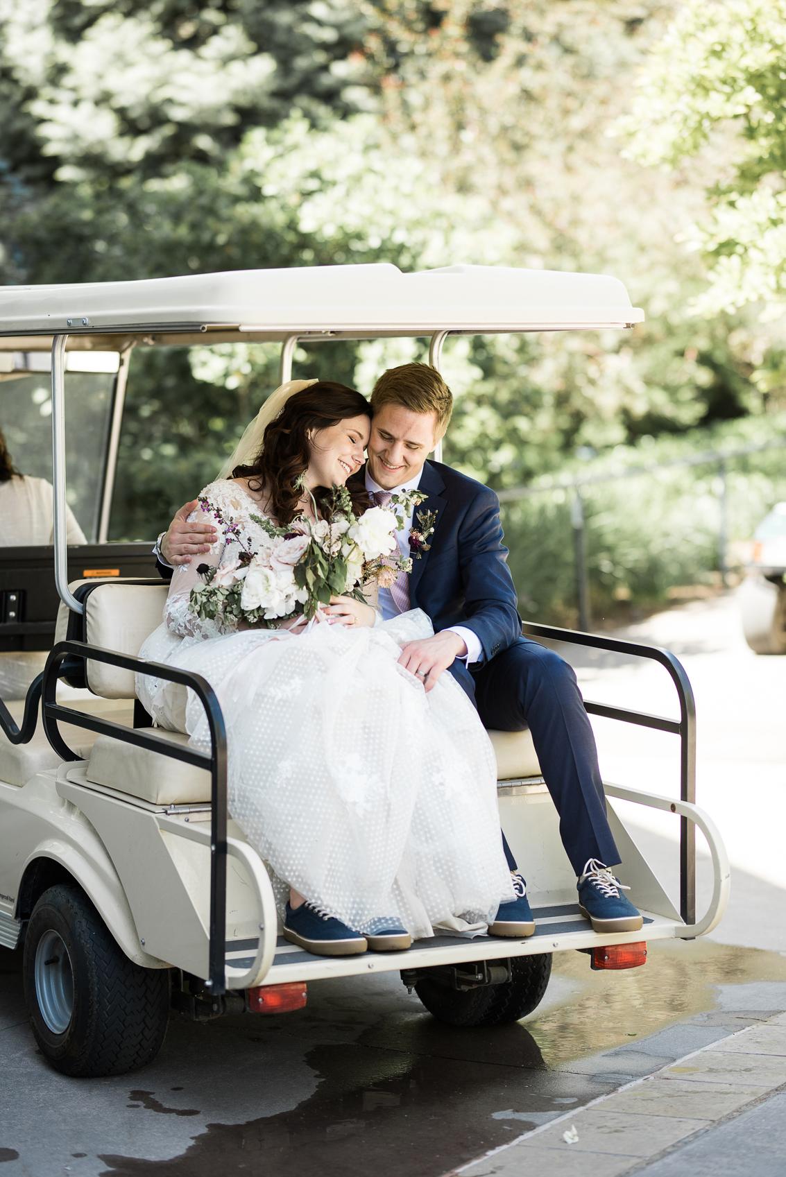 Red Butte Gardens Golf Cart | Elisha Braithwaite Photography