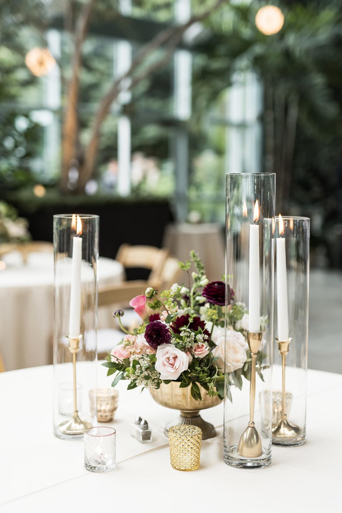 glass wedding centerpieces red butte gardens | elisha braithwaite photography
