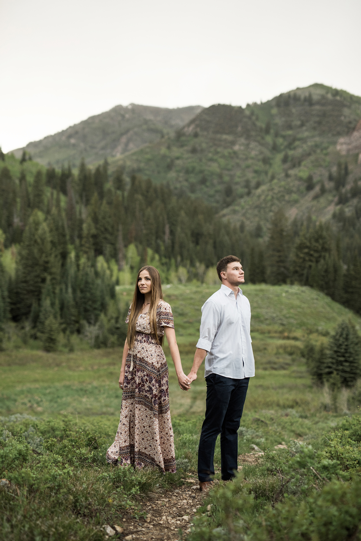 creative mountain engagement photography utah