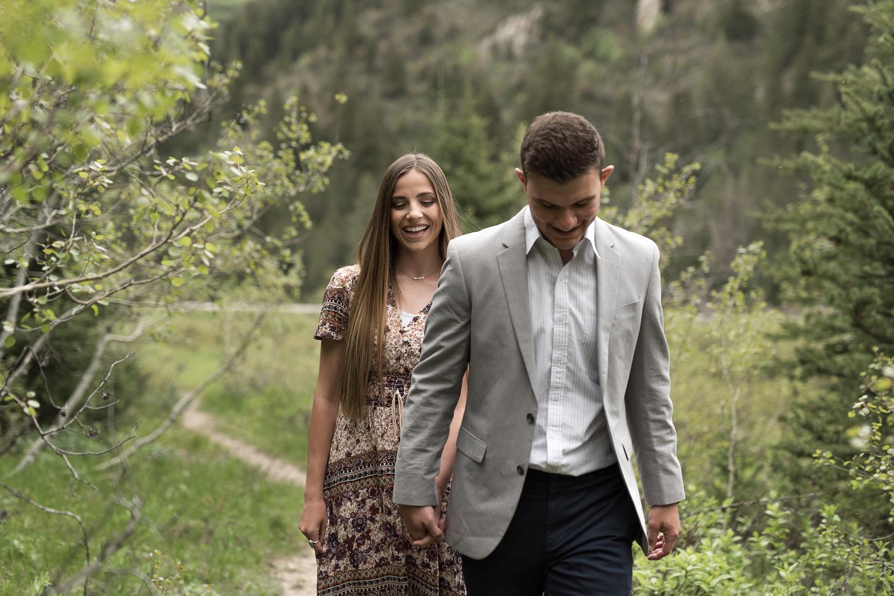 big cottonwood canyon engagements utah