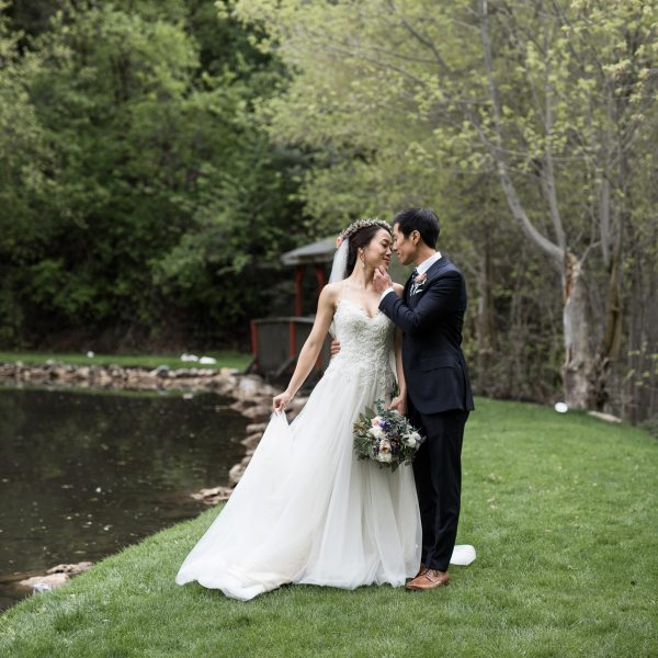 Minji and Paul's Millcreek Canyon Wedding at Log Haven