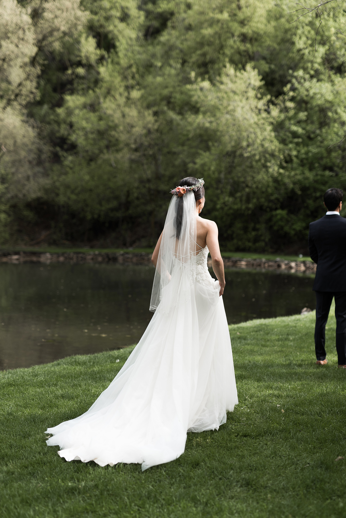 wedding reveal in the mountains of utah