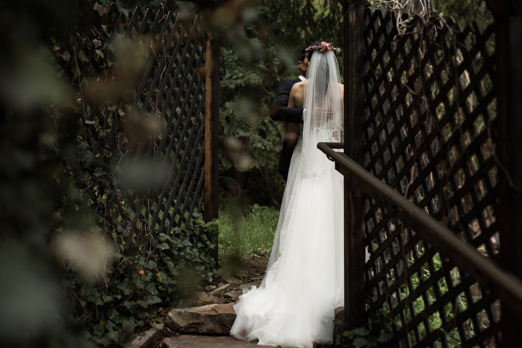 dark and moody wedding photography log haven