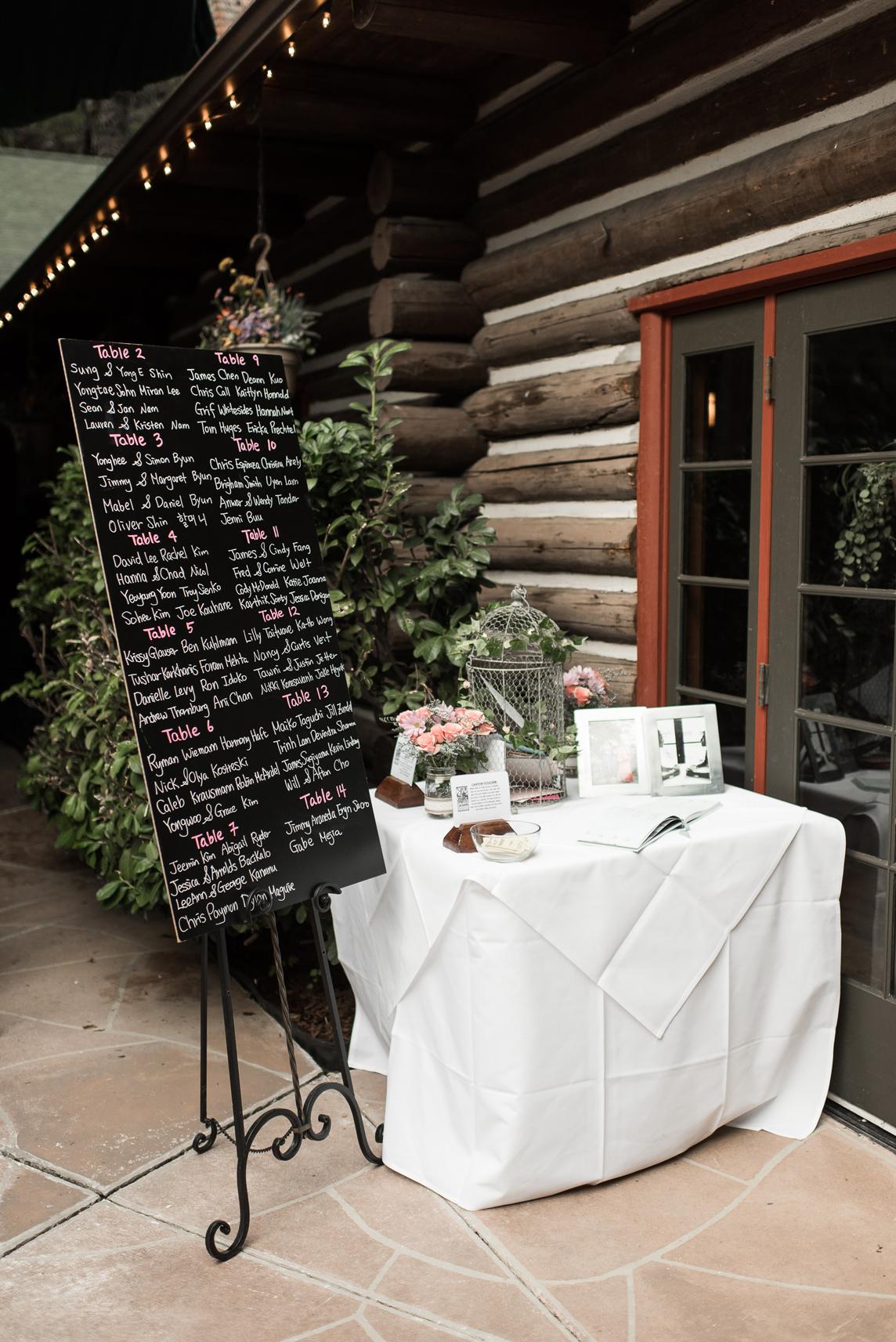 log haven wedding details