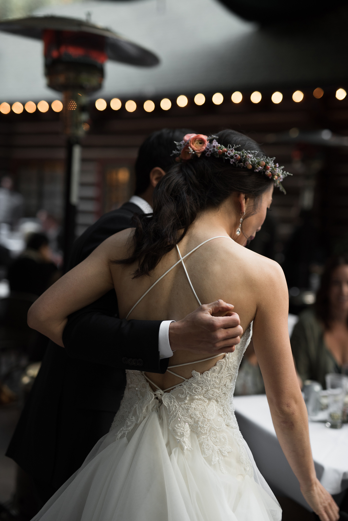 documentary wedding photography of a bride and groom