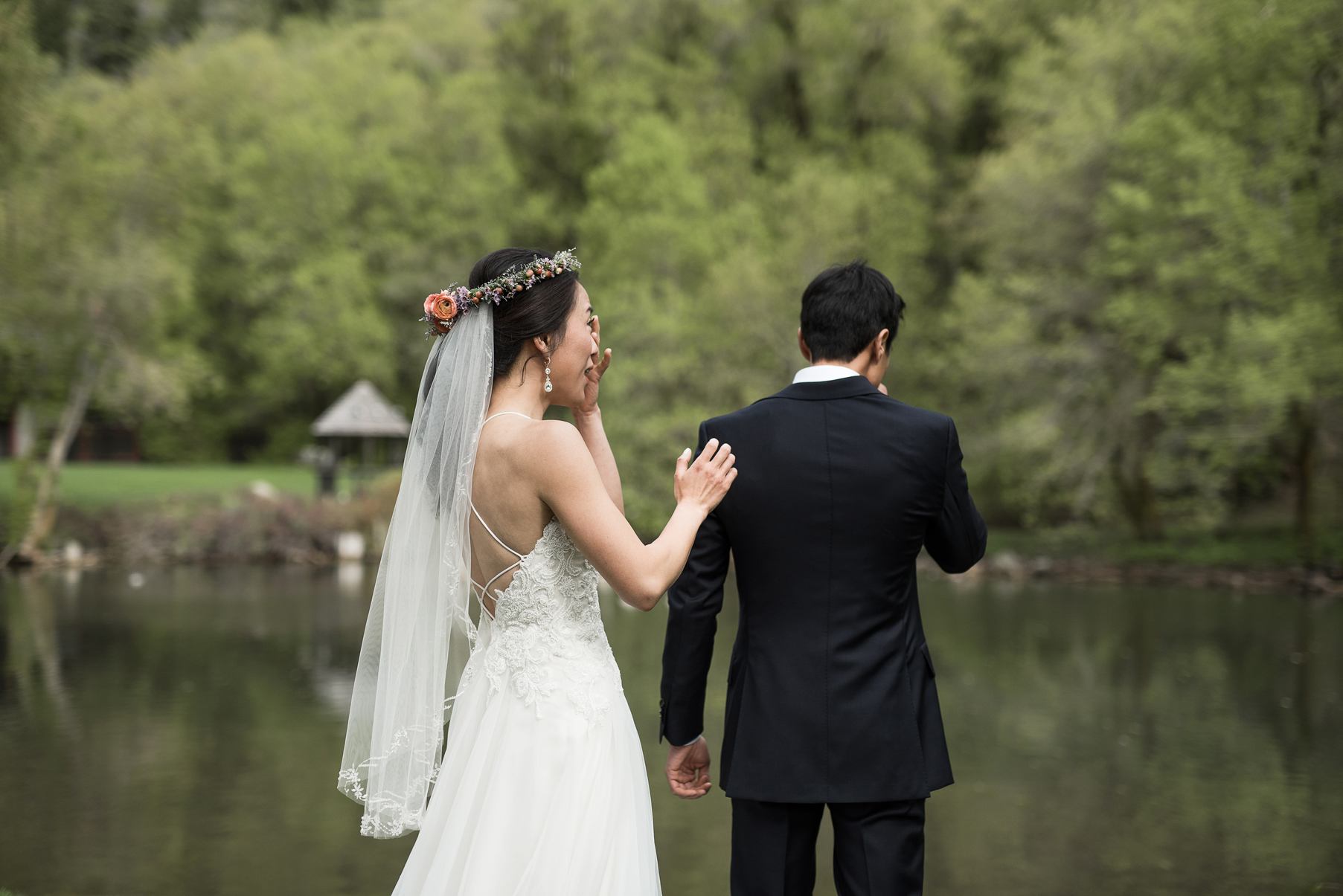 grooms emotional reaction seeing his bride