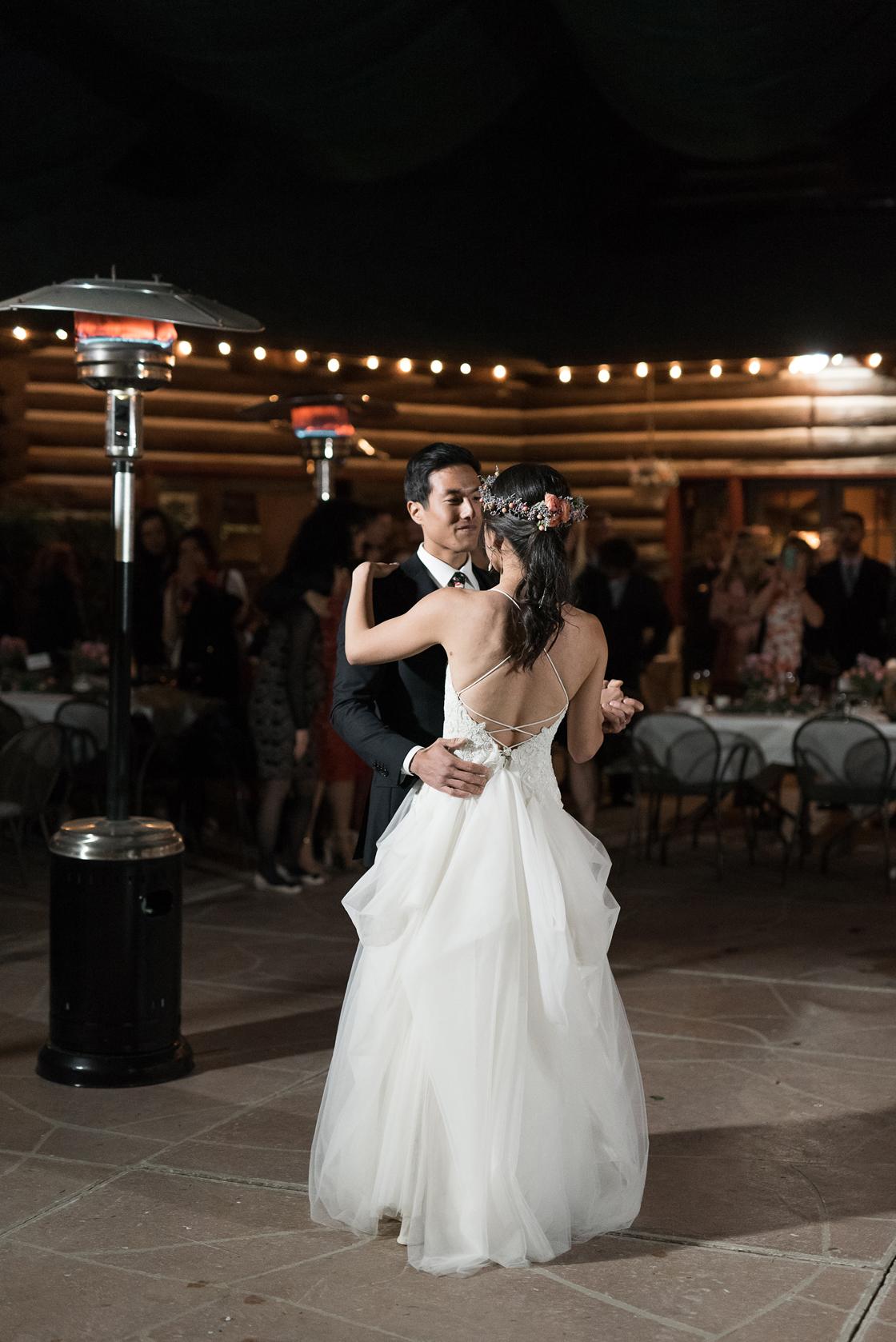 first dance log haven wedding millcreek canyon
