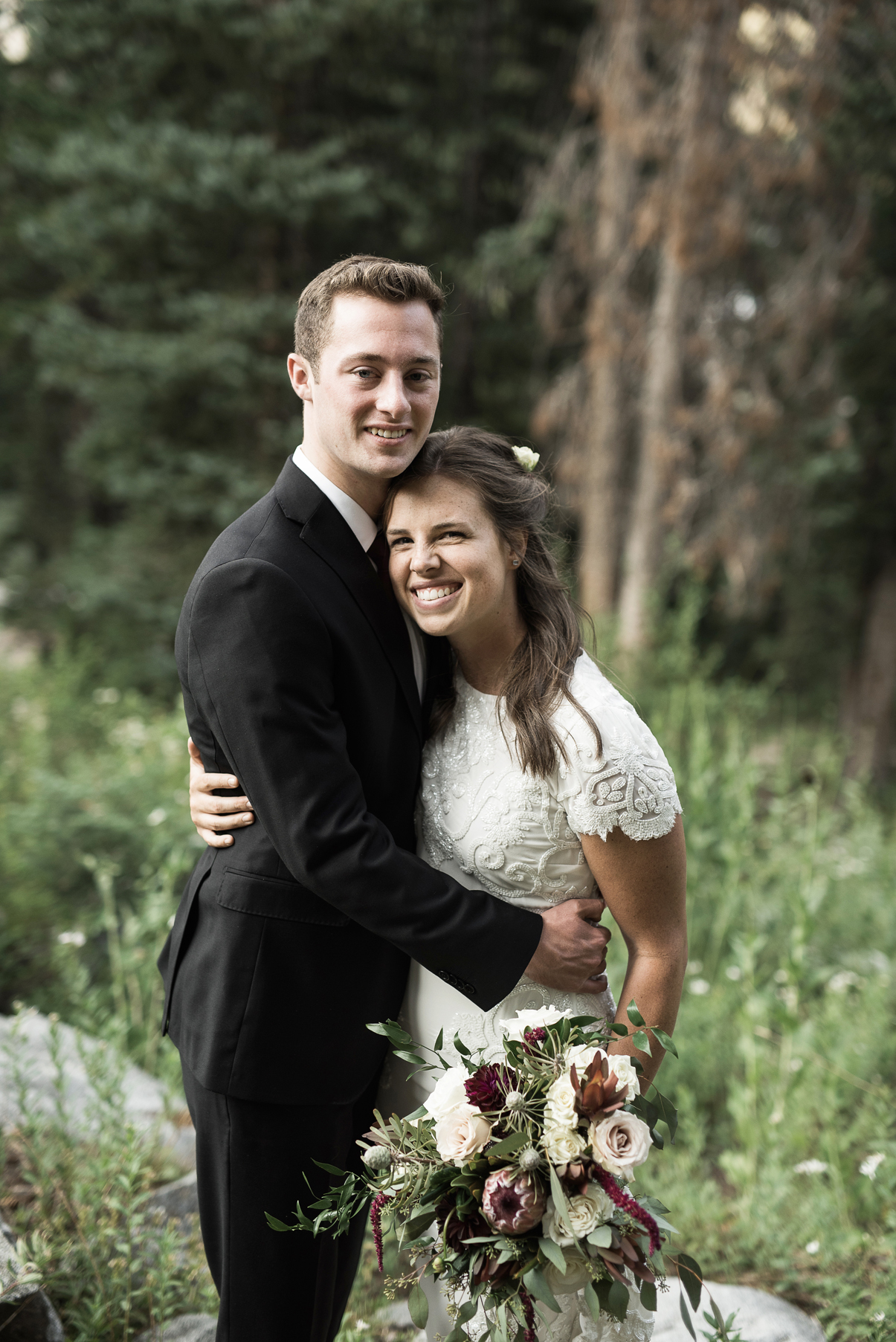 posed portrait from a couples wedding