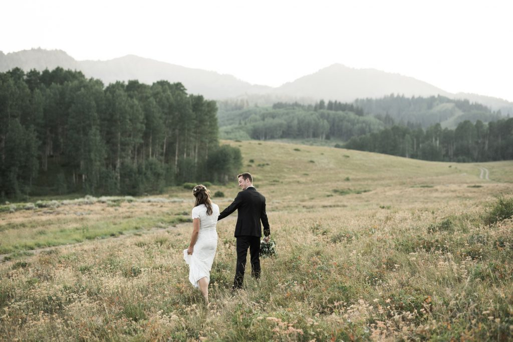 Couple walking through guardsman pass together