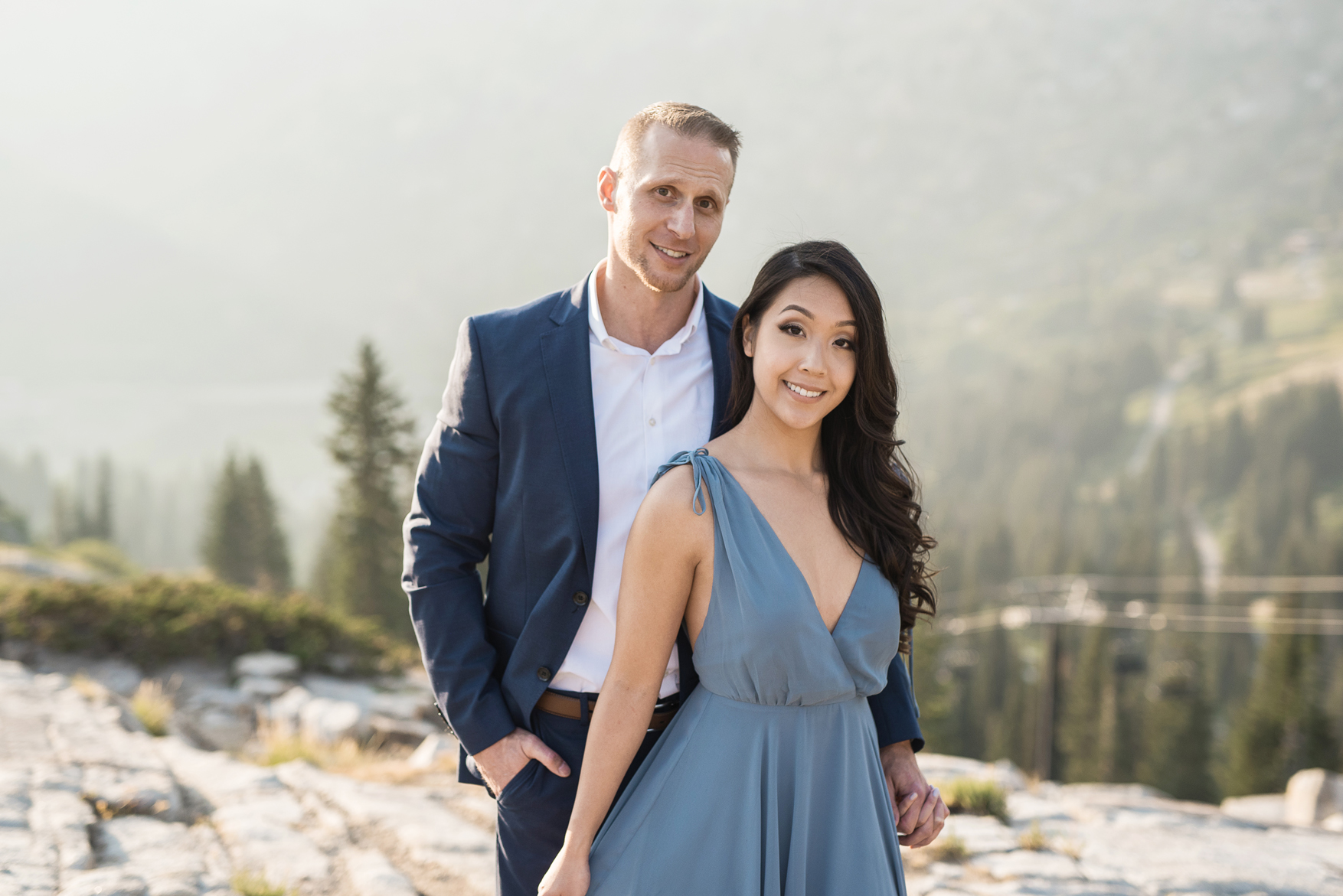 formal engagement session in albion basin utah