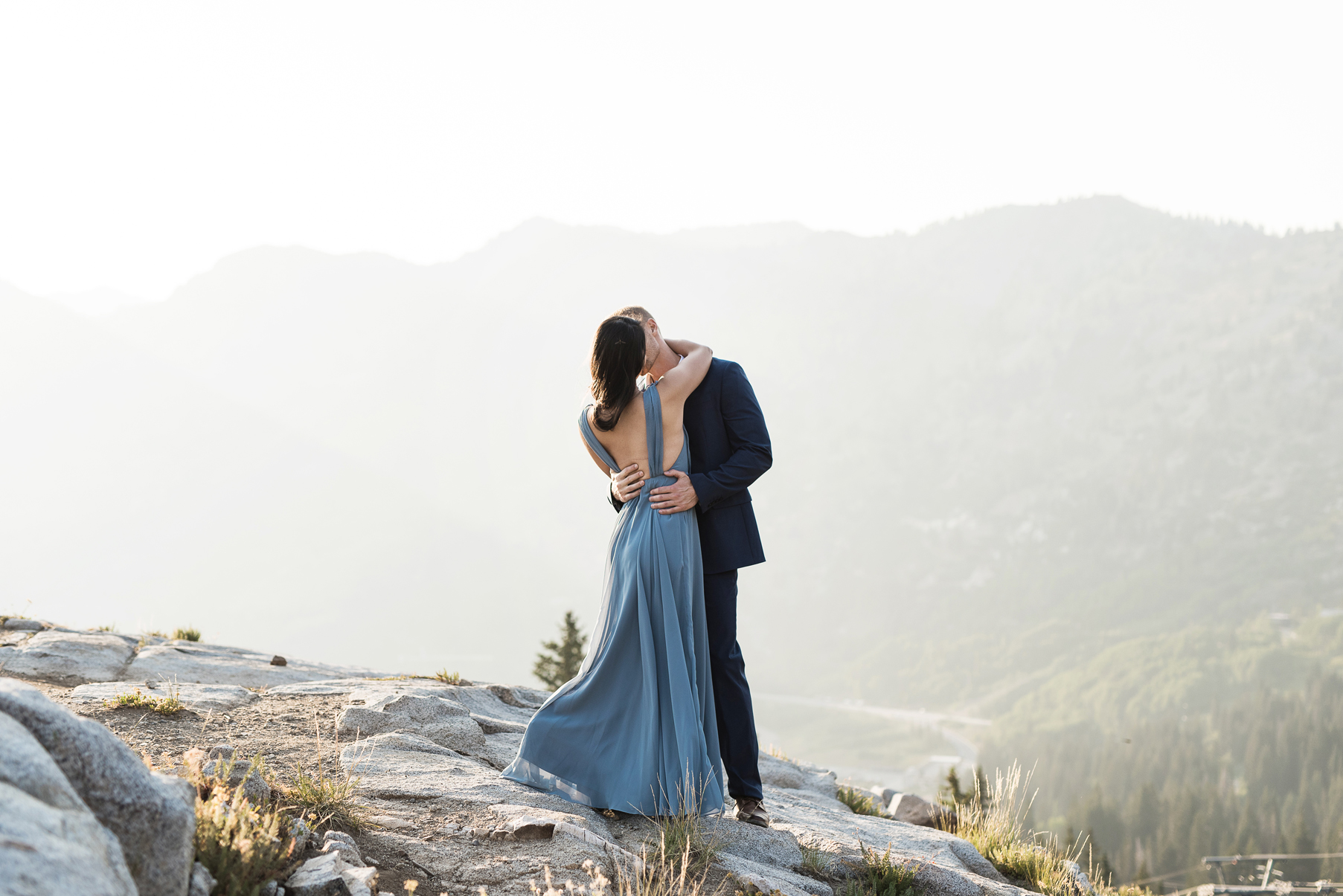 romantic engagements overlooking alta ski resort