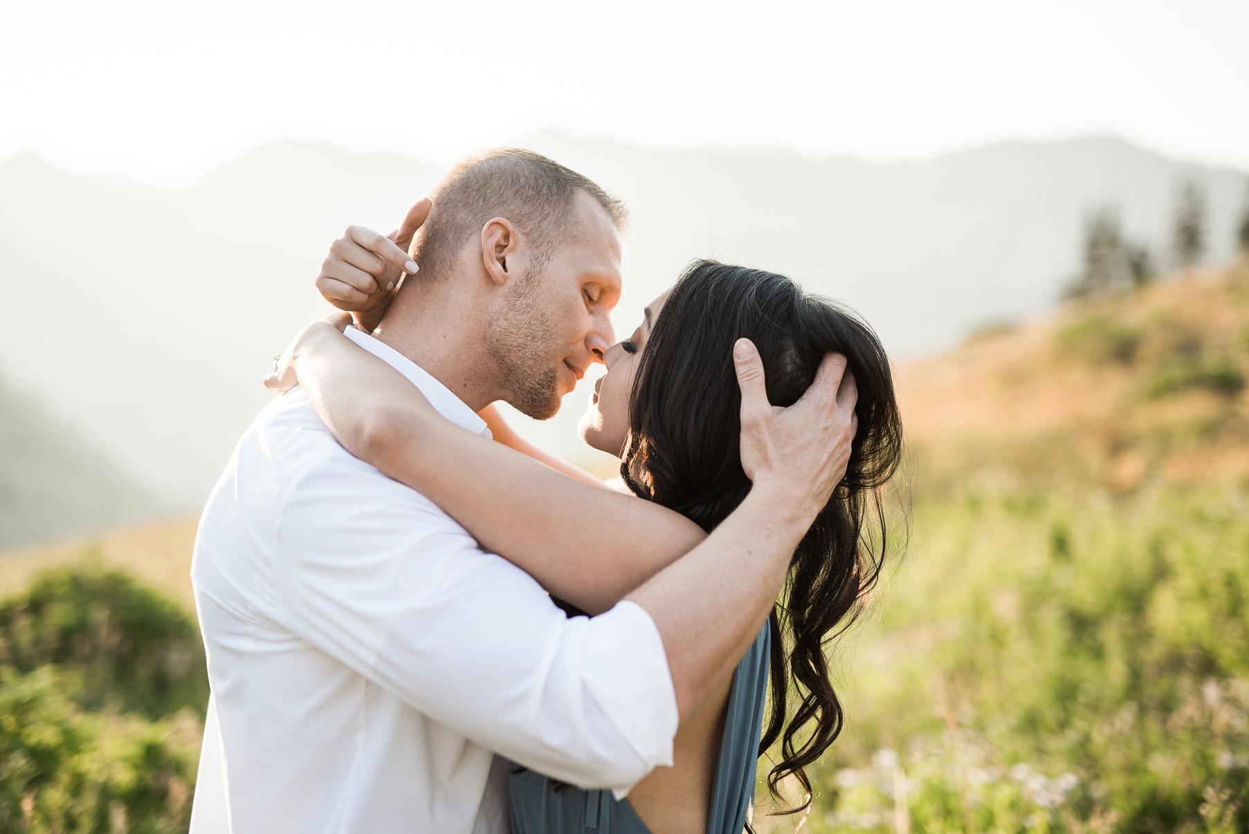 passionate kiss at albion basin