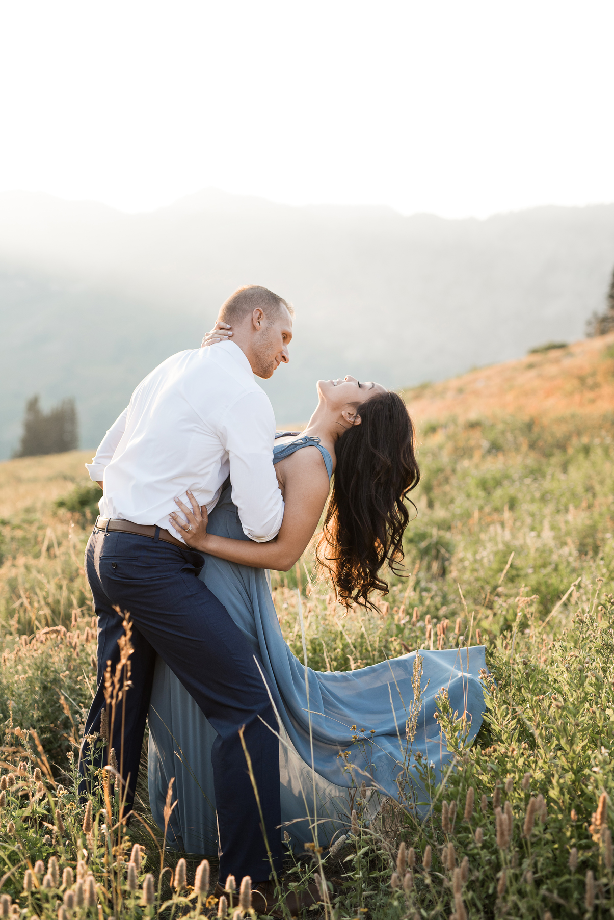 passionate kiss and dip in albion basin