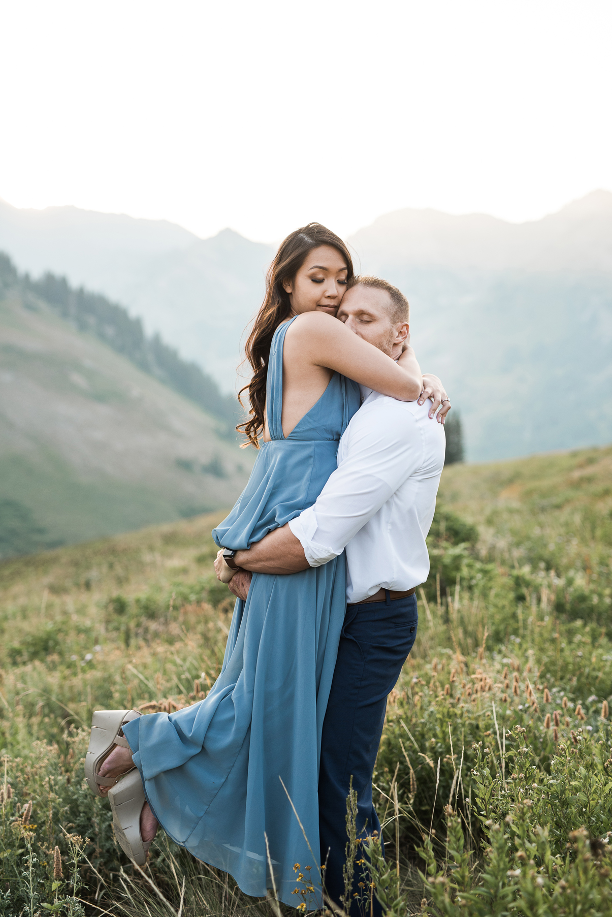 candid engagement photography in albion basin