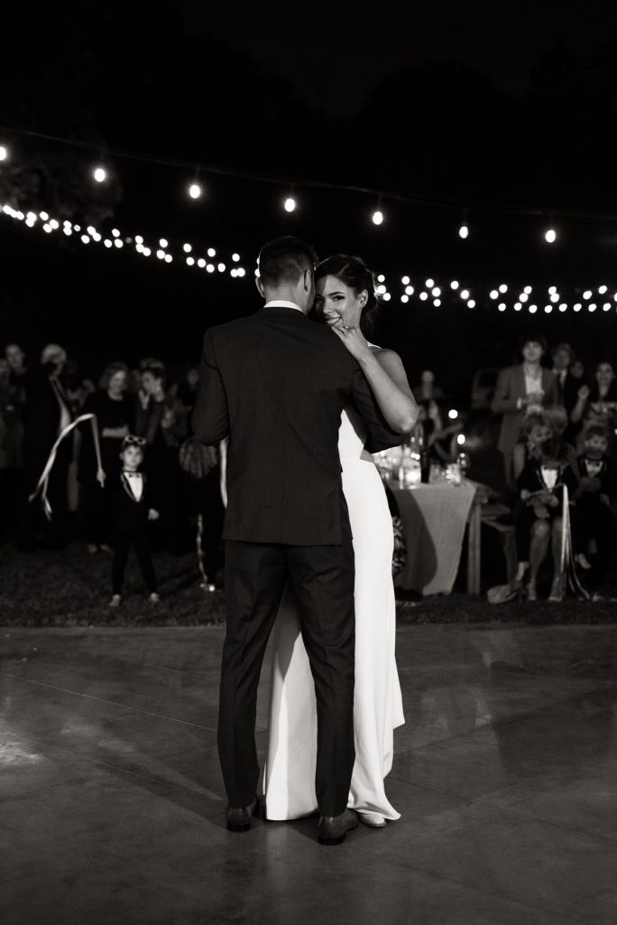 bride and grooms first dance at yokayo ranch