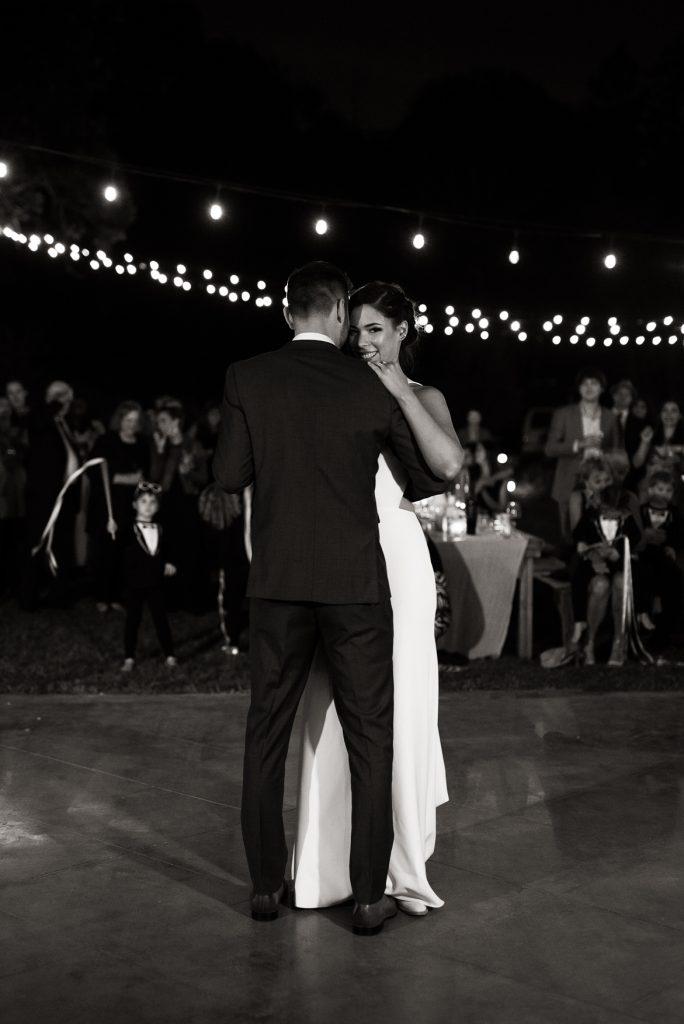 bride and grooms first dance at yokayo ranch
