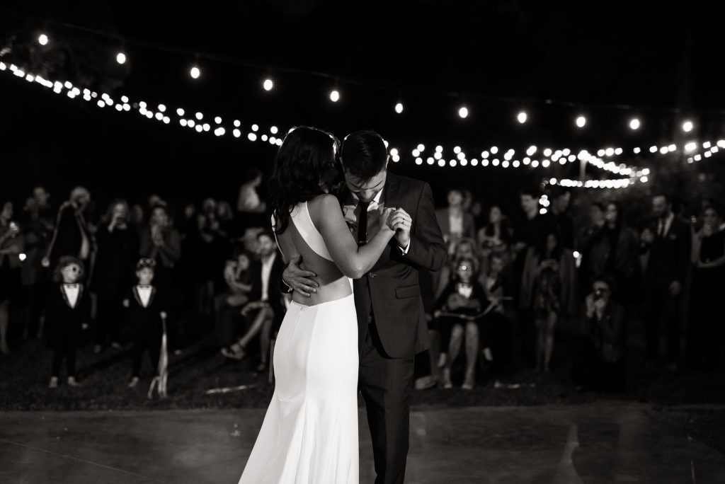 emotional first dance between a bride and groom