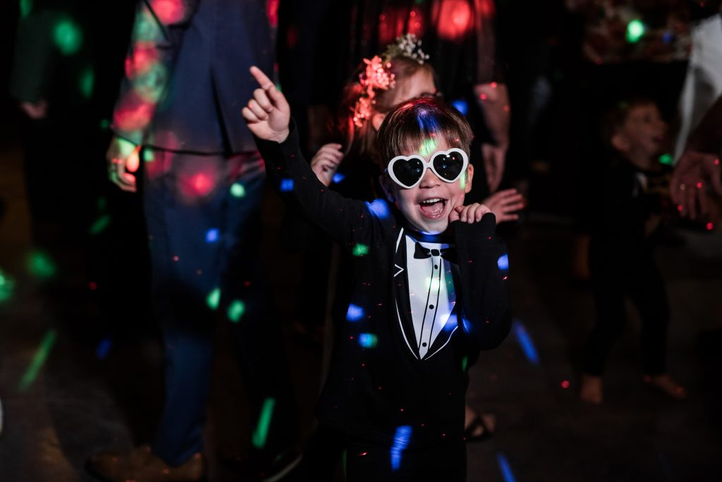 flower girl wearing custom made party outfit