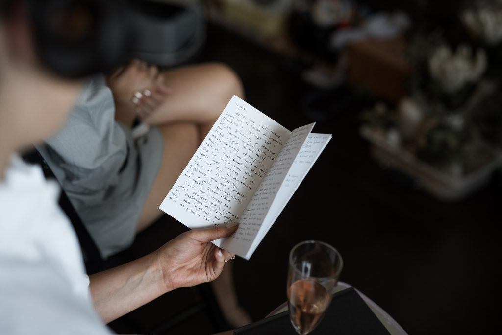 a letter from a brides groom