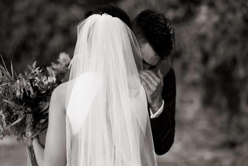 grooms emotional reaction to seeing his bride