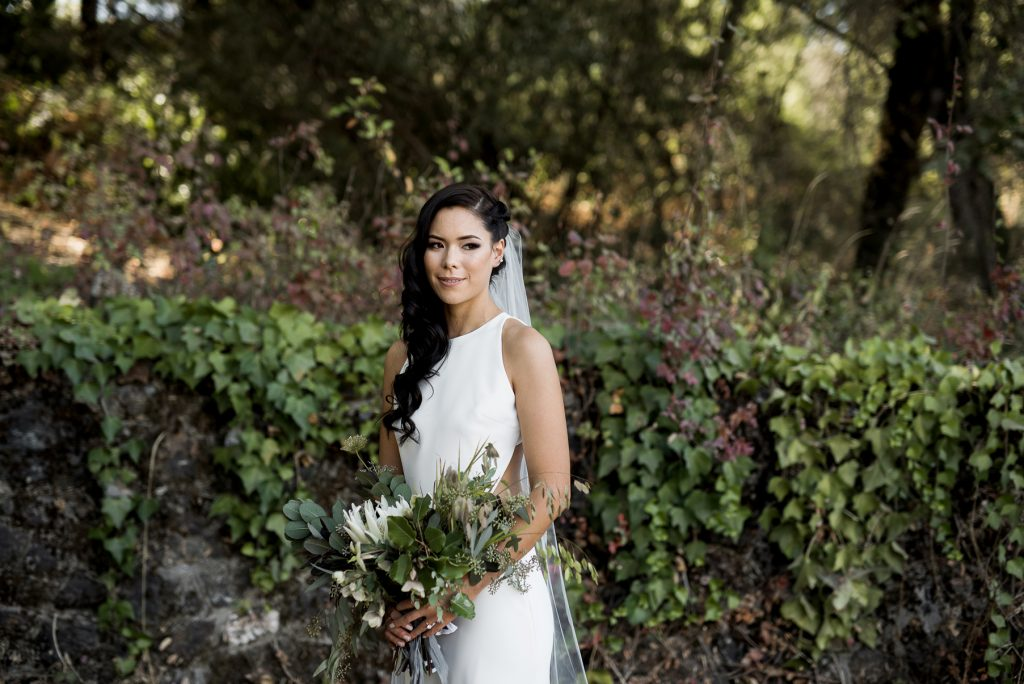 modern bridal style with a sarah seven gown
