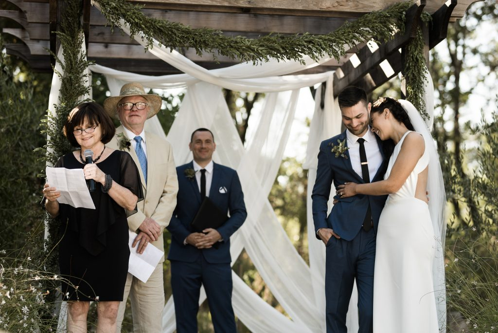parent speeches during a wedding ceremony