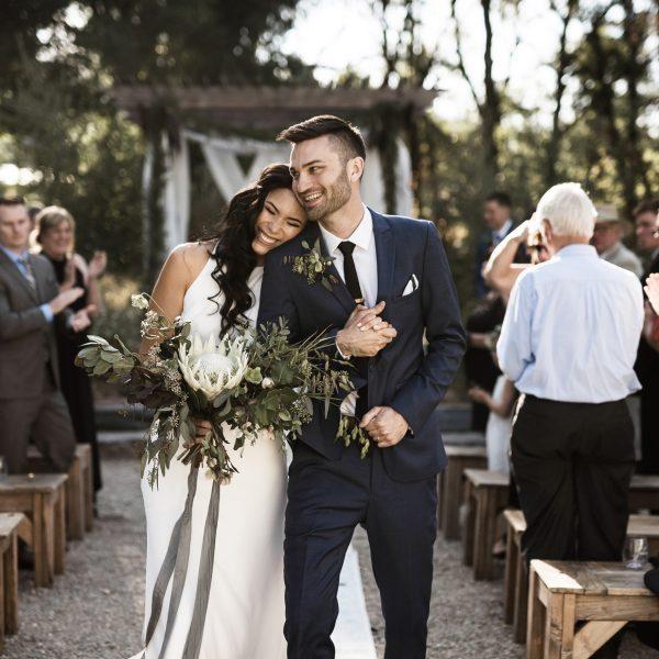 Alicia and Taylor's Modern Outdoor Wedding at Yokayo Ranch, Ukiah