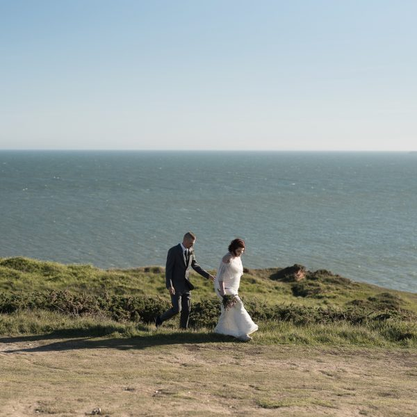 Lighthouse Wedding overlooking the Seven Sisters Cliffs | Haley & Keaton