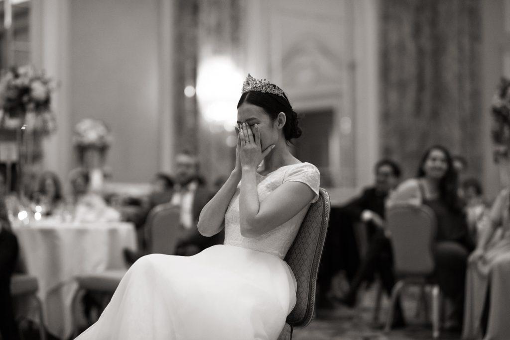 Wedding speeches at Grand America Hotel by Elisha Braithwaite Photography