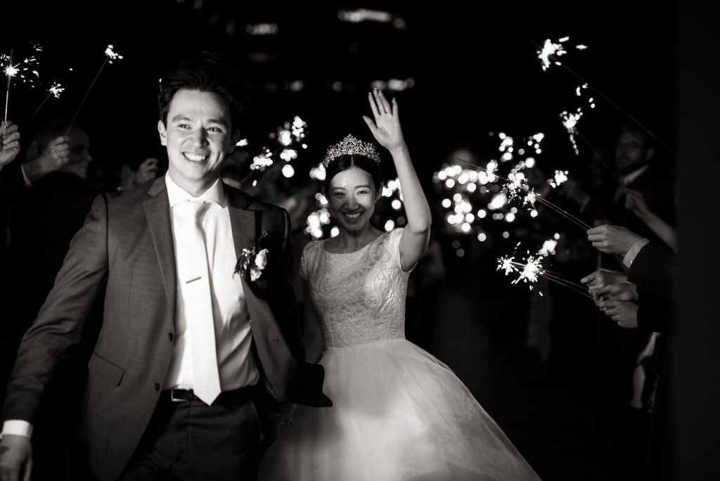 Sparkler Exit at Grand America Hotel by Elisha Braithwaite Photography
