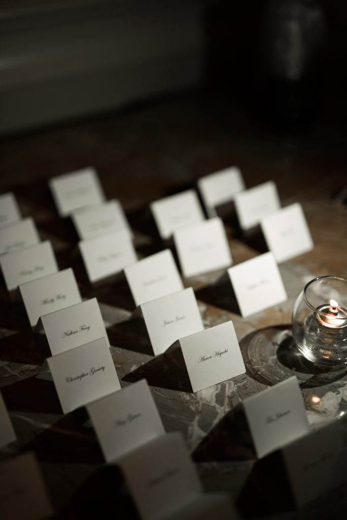 Simple Escort Cards at Grand America Hotel Wedding