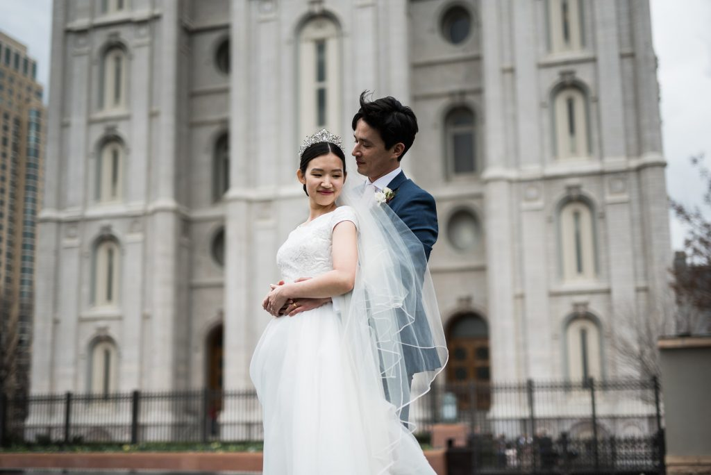 Artistic Spring Wedding at Temple Square by Elisha Braithwaite Photography