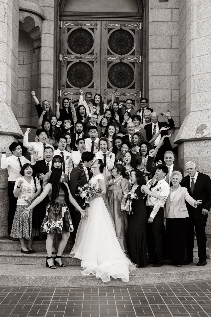 Family Portraits at Temple Square Wedding by Elisha Braithwaite Photography