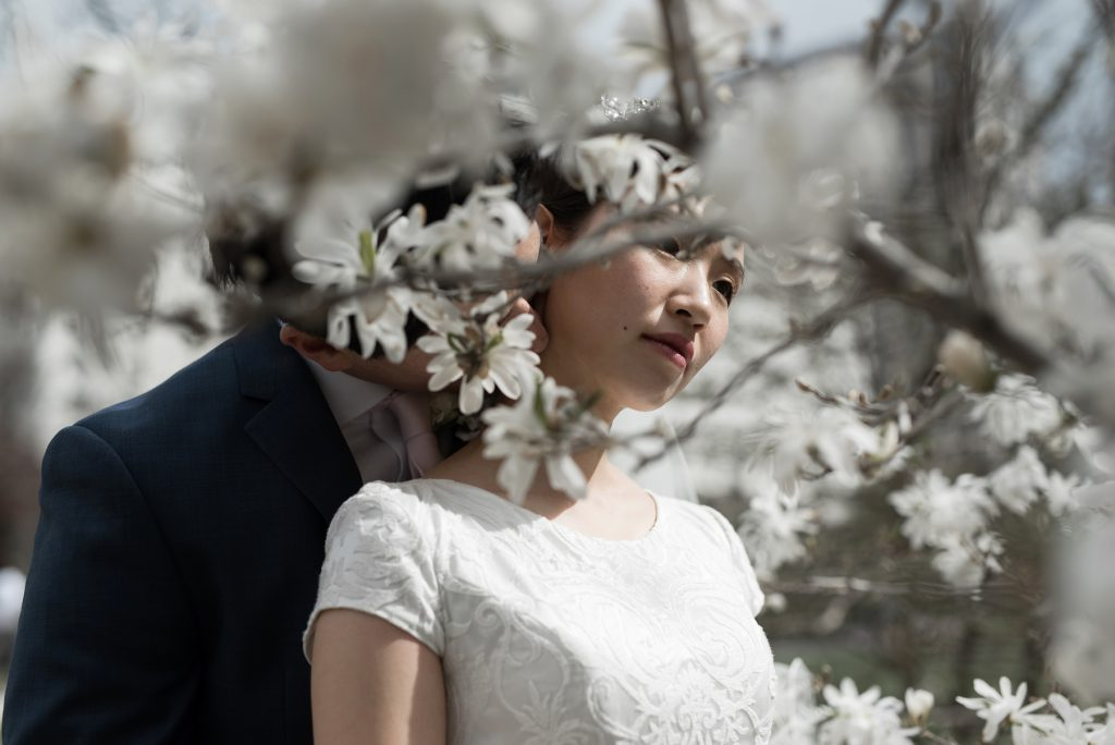Spring Wedding at Salt Lake City Temple by Elisha Braithwaite Photography