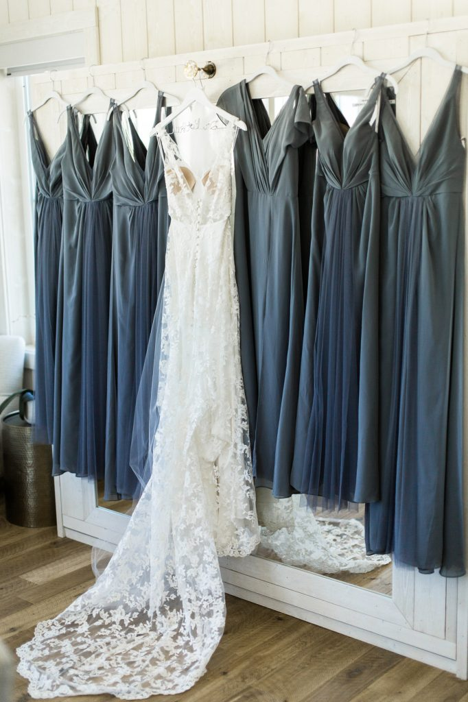 Pale Blue Bridesmaid Dresses at River Bottoms Ranch