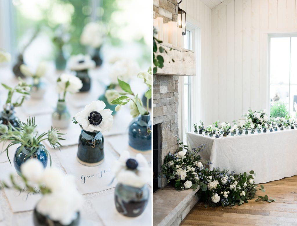 Handmade vase wedding favors