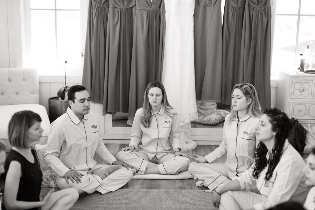 Bridal Party Meditation at River Bottoms Ranch
