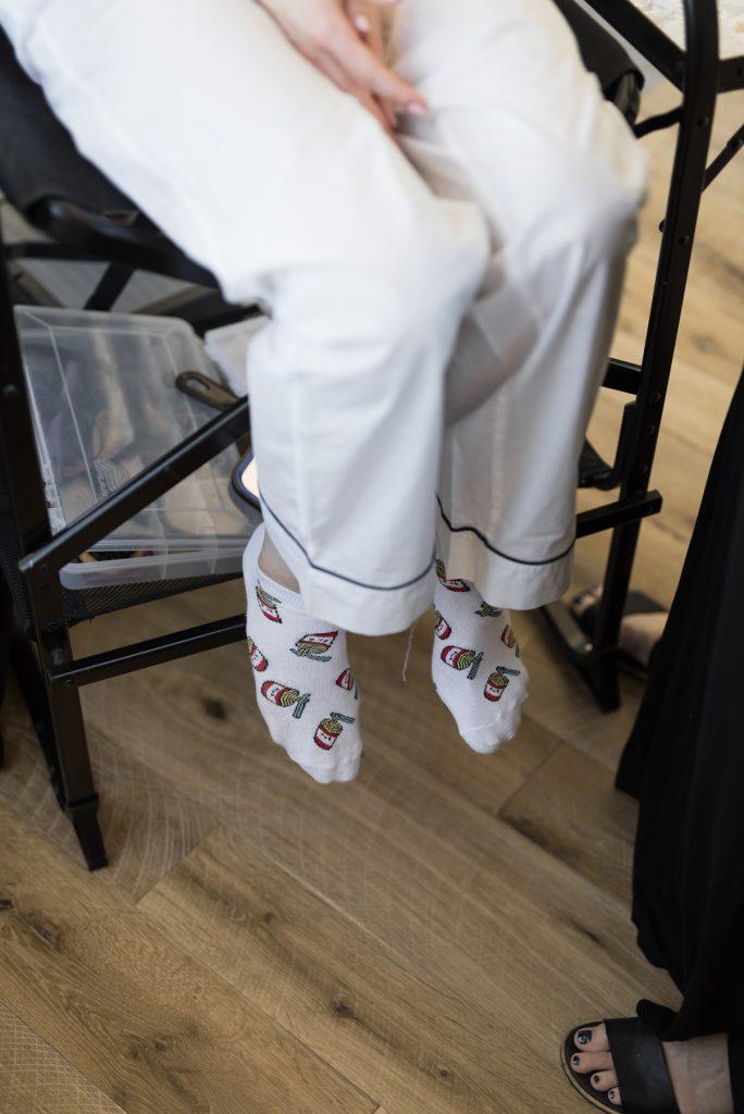 Ramen Socks at Wedding