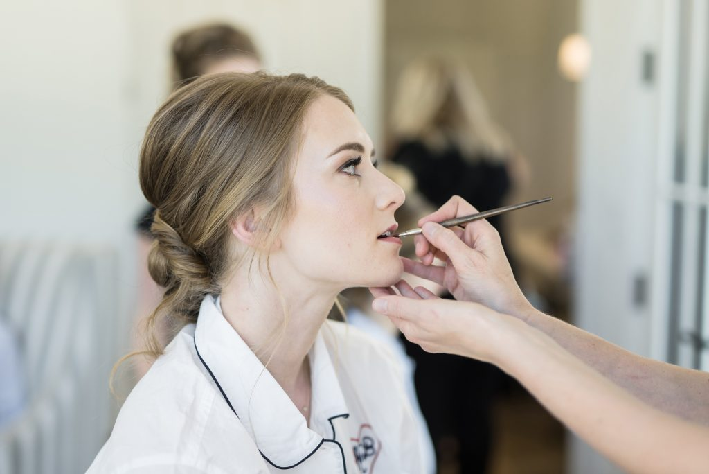 Lesley Lind Bridal Makeup at River Bottoms Ranch