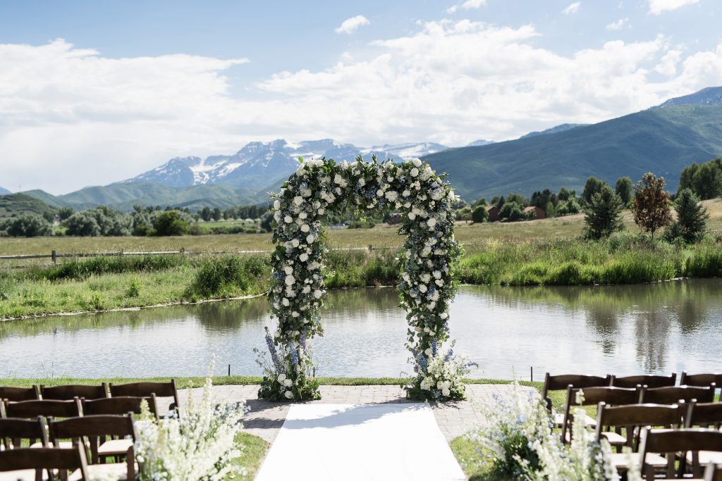 Natural Flower arch at River bottoms Ranch