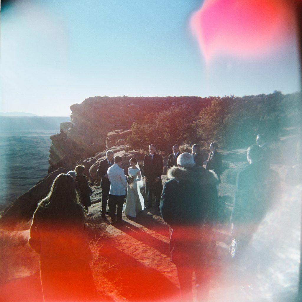 Desert wedding on holga 120mm film