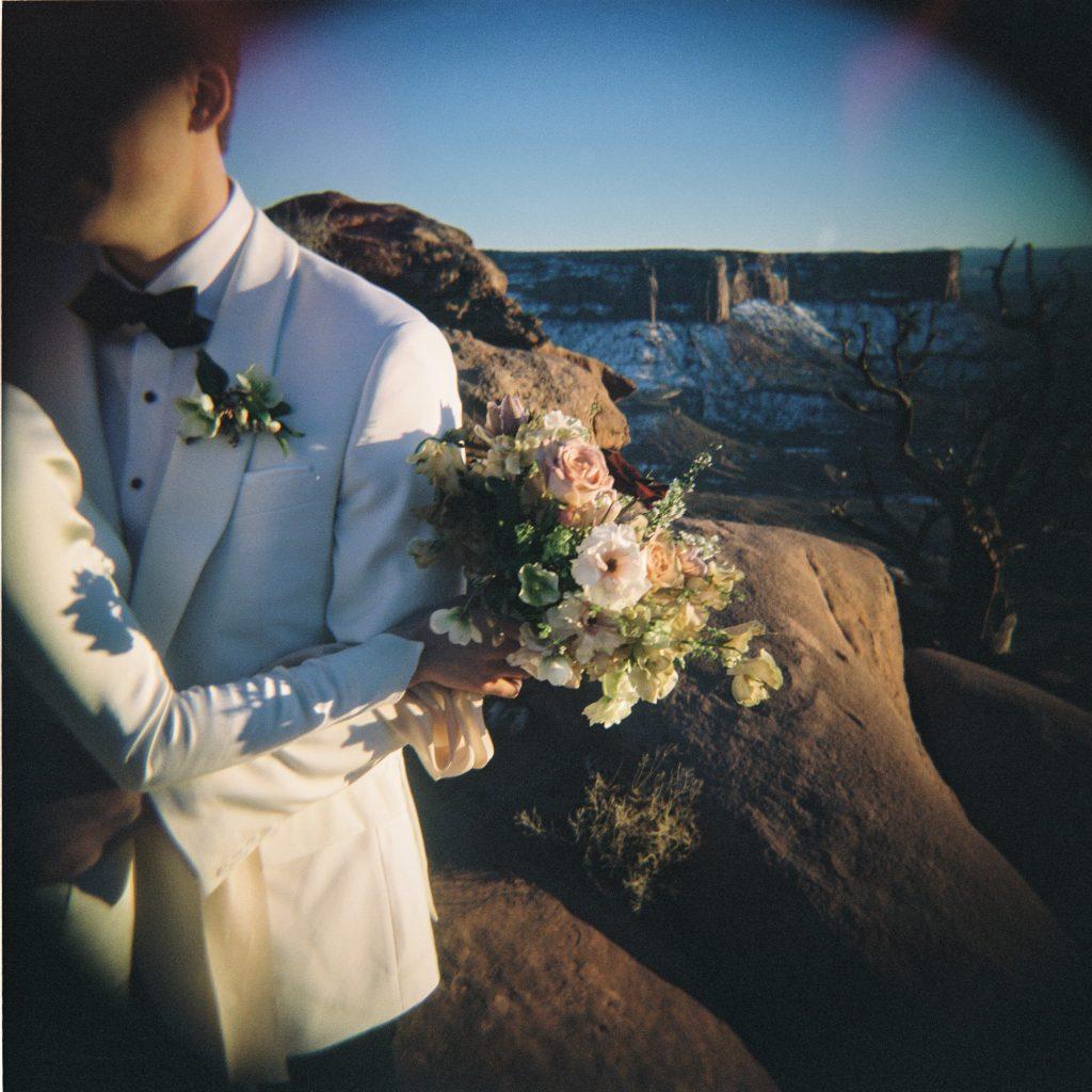 Desert wedding on lomography film
