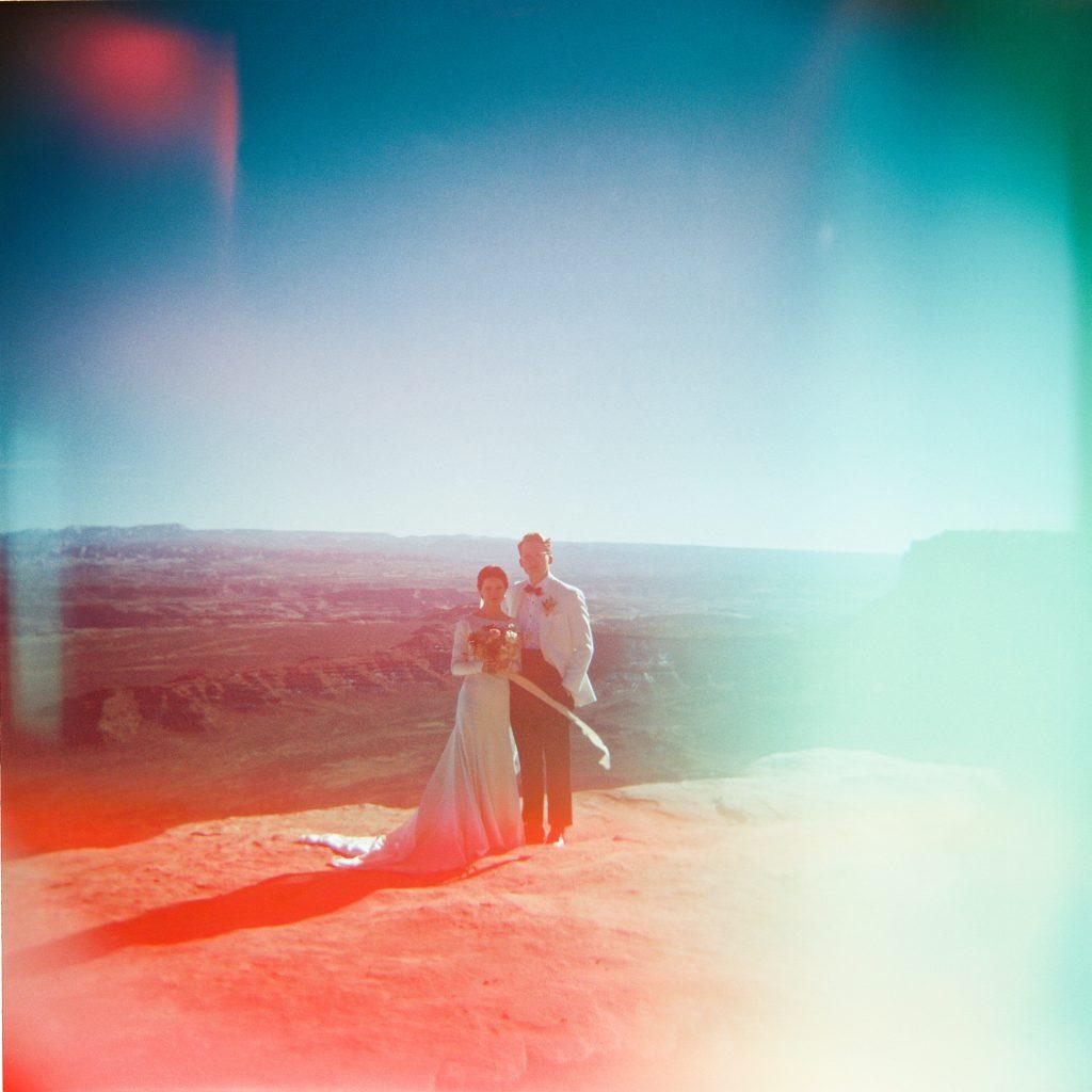 Couple at Canyonlands on holga camera