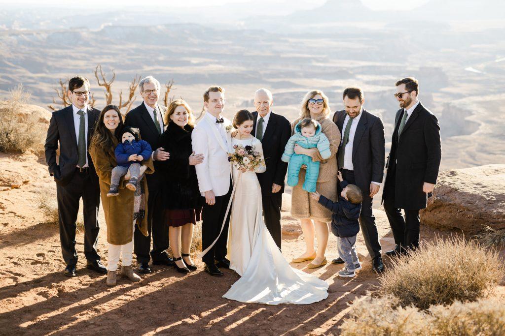 Small wedding overlooking Green River Overlook