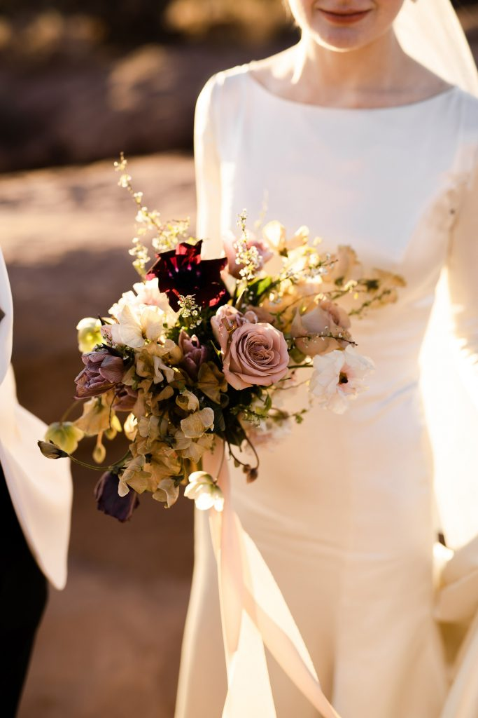 warm toned wedding bouquet