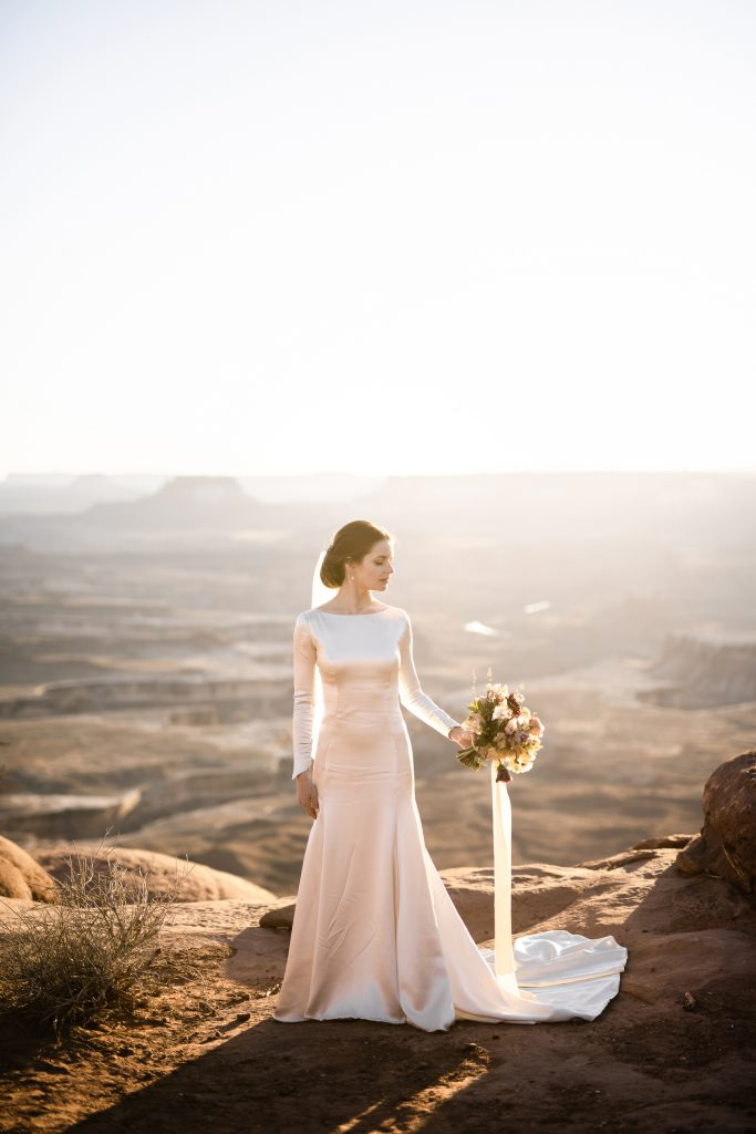 Couple married in canyonlands national park