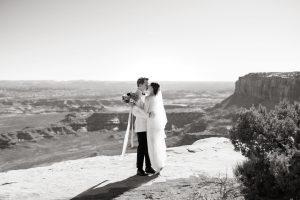 Wedding reveal at Green River Overlook